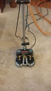 Rotovac Carpet Cleaning being used by one of our cleaners